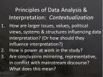 principles of data analysis interpretation contextualization1