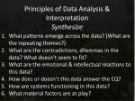 principles of data analysis interpretation synthesize1