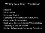 writing your story traditional