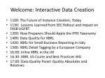 welcome interactive data creation