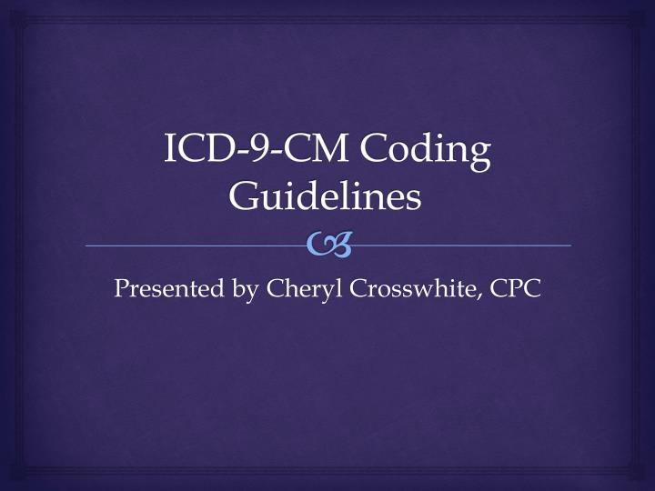 icd 9 cm coding guidelines n.