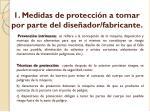 1 medidas de protecci n a tomar por parte del dise ador fabricante