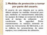 2 medidas de protecci n a tomar por parte del usuario