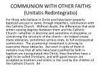 communion with other faiths unitatis redintegratio