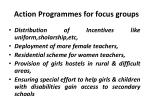 action programmes for focus groups