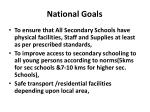 national goals
