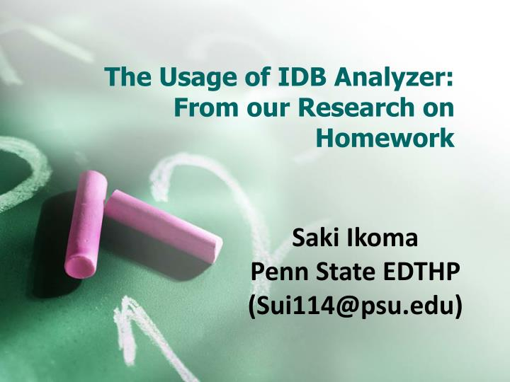 the usage of idb analyzer from our research on homework n.
