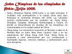 sedes ol mpicas de las olimpiadas de pek n beij n 2008