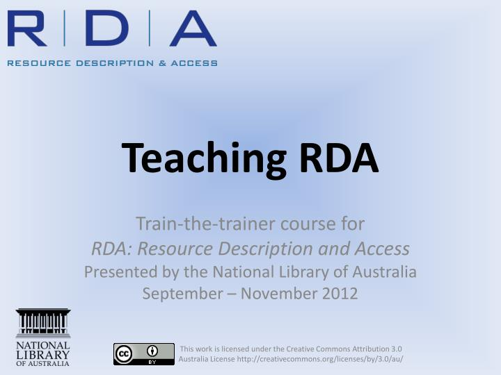 teaching rda n.