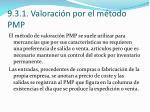 9 3 1 valoraci n por el m todo pmp