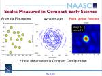 scales measured in compact early science