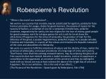 robespierre s revolution