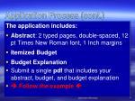 application process cont