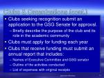 clubs organizations cont