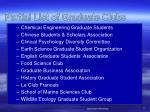 partial list of graduate clubs