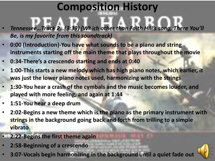 Composition History