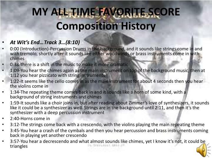 MY ALL TIME FAVORITE SCORE