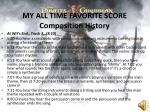 my all time favorite score composition history1