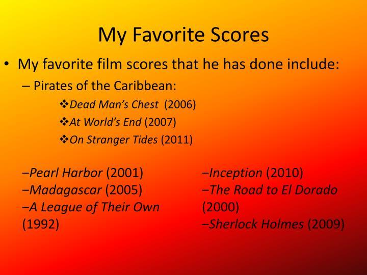 My Favorite Scores