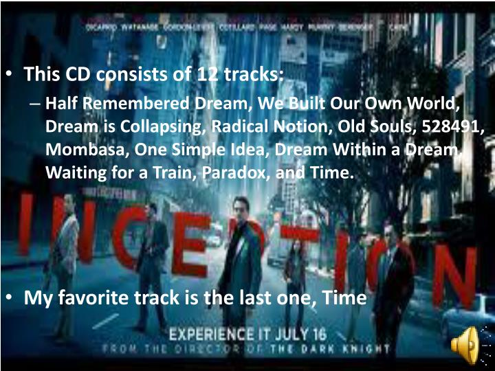 This CD consists of 12 tracks: