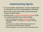 implementing signals