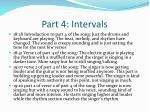 part 4 intervals
