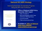 national hiv aids strategy improving outcomes accelerating progress along the hiv care continuum