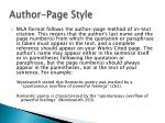 author page style