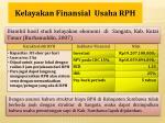 kelayakan finansial usaha rph