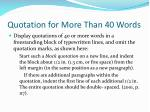 quotation for more than 40 words