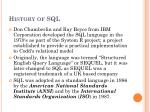history of sql