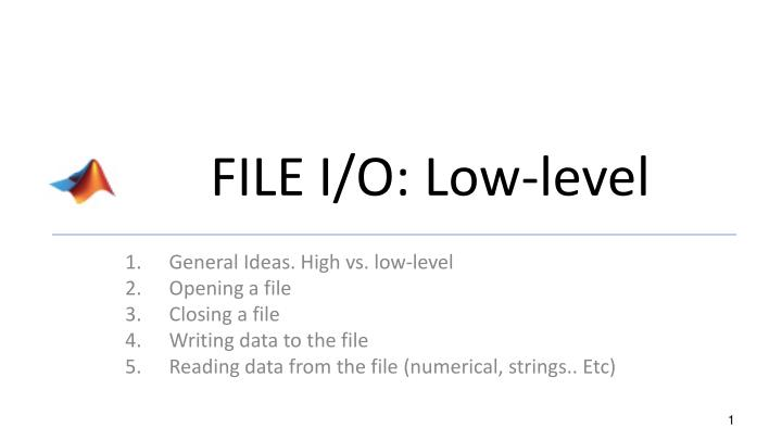 file i o low level n.