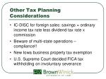 other tax planning considerations