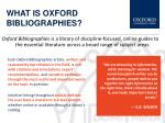 what is oxford bibliographies