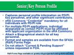 senior key person profile