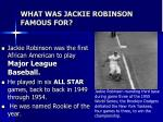 what was jackie robinson famous for