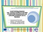 llp leonardo learning partnership project tools for intercultural education of nurses in europe