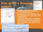 how to do a hanging indent