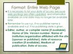 format entire web page