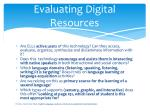 evaluating digital resources