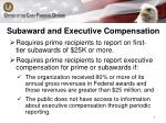 subaward and executive compensation