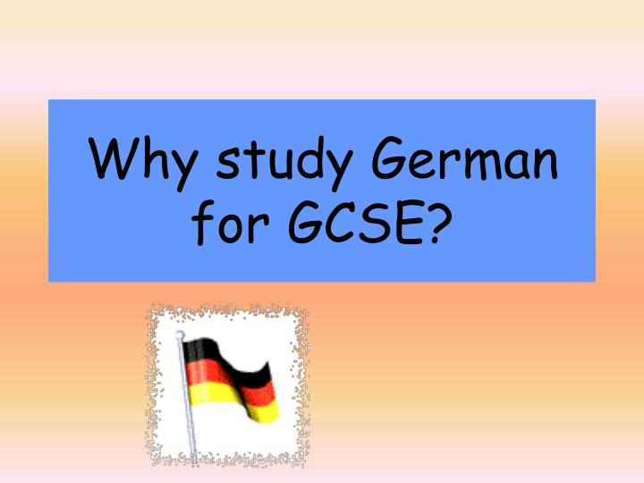 Why study german for gcse