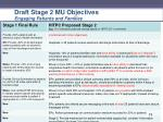 draft stage 2 mu objectives engaging patients and families