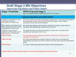 draft stage 2 mu objectives improving population and public health