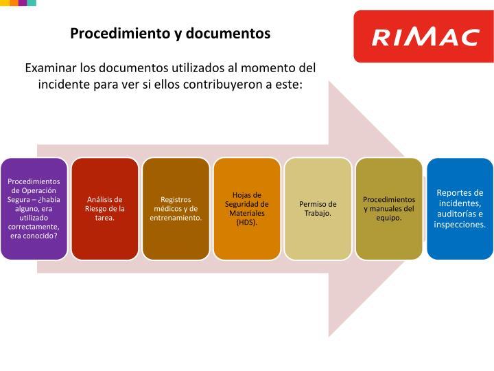 Procedimiento y documentos