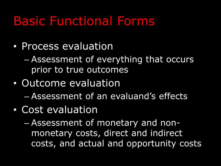 Basic Functional Forms