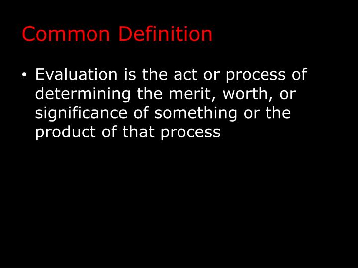 Common Definition