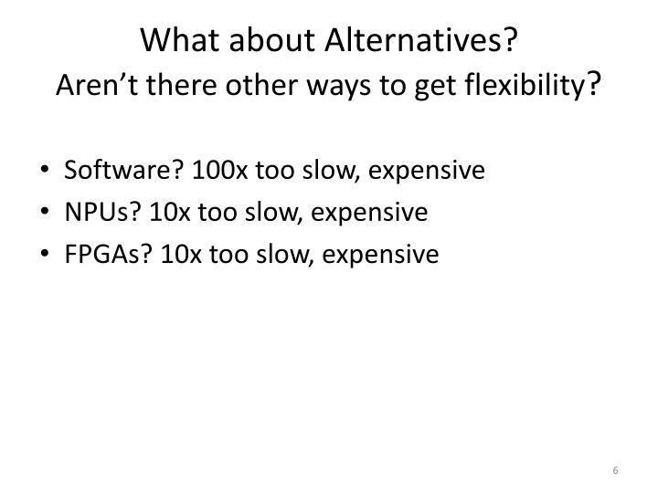 What about Alternatives