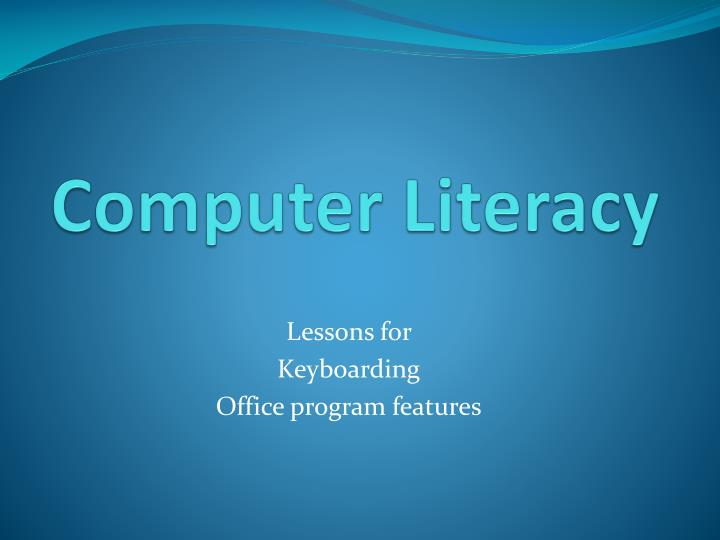 computer literacy Computer literacy generally refers to the ability to use applications rather than to program individuals who are very computer literate are sometimes called power users.