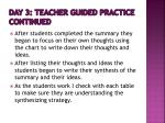 day 3 teacher guided practice continued